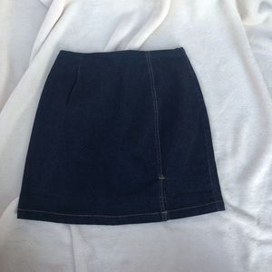 NEWPORT NEWS EASY STYLE Dark Denim Skirt W/ Side